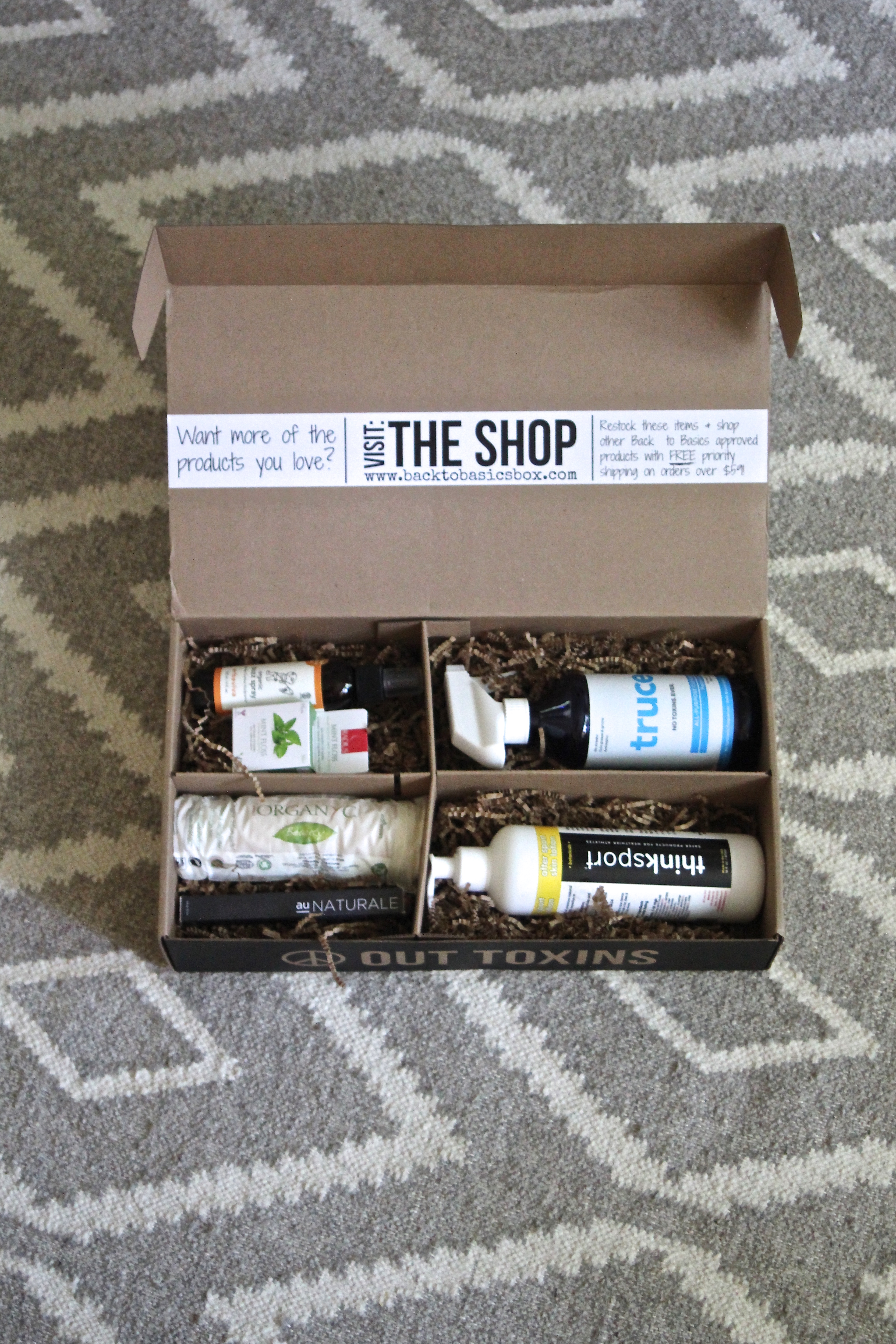 Peace Out Toxins: Back To Basics July Box